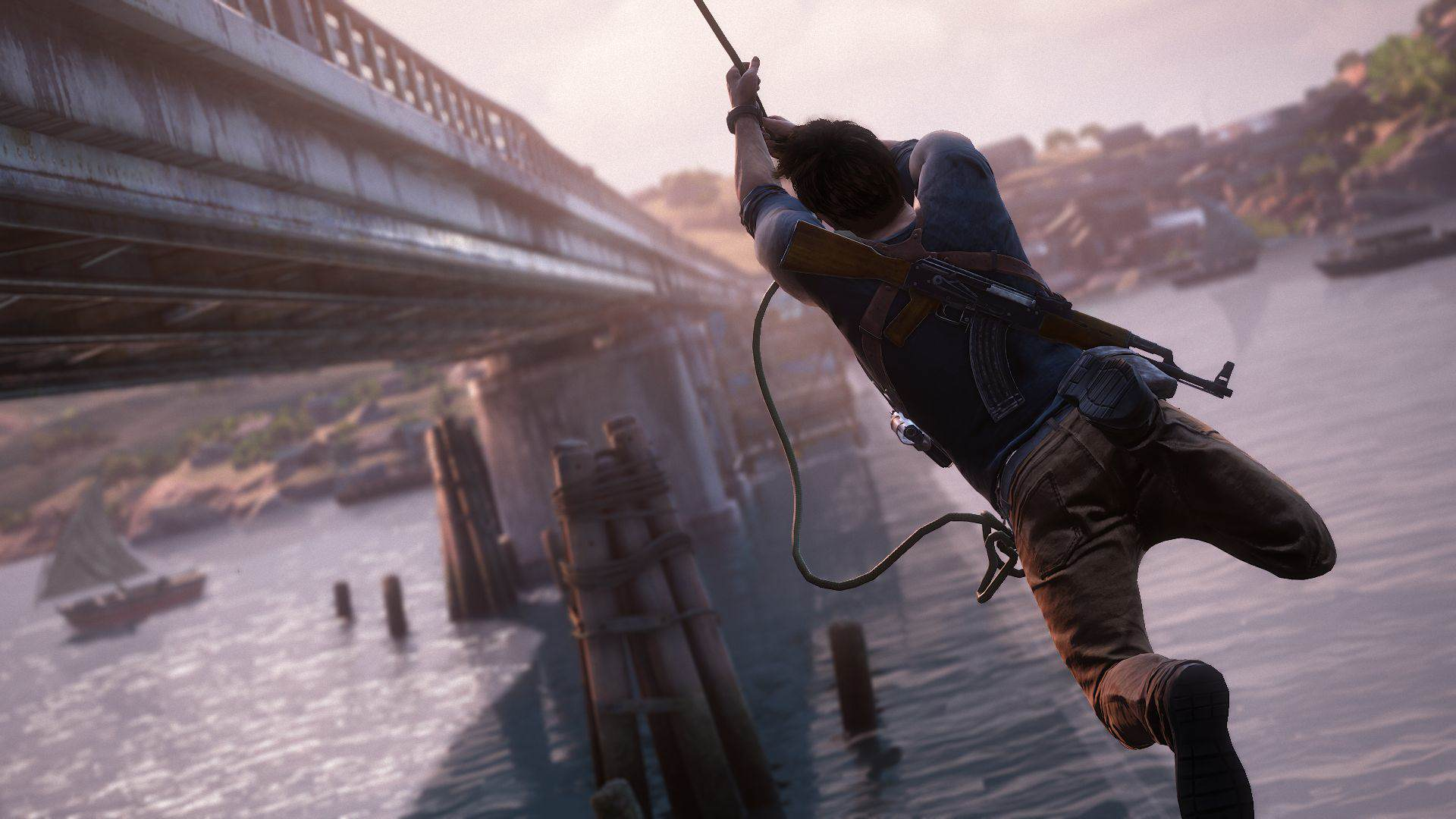 Uncharted 4s Story Changed 100% After New Directors Joined 2759115 uncharted 4 drake rope bridge 1434429051