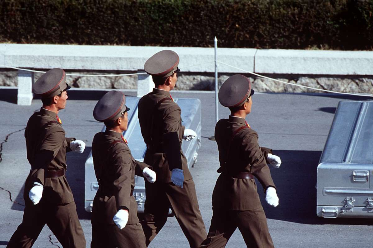 Kim Jong un Could Be Kicked Out Of North Korea By Military Korean Peoples Army Soldiers prepare to repatriate remains during a repatriation ceremony at the Panmunjom Joint Security Area on 981106 F AF179 013 1200x800