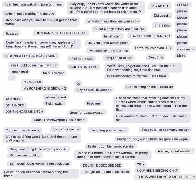 Guys Hilarious Collage Of Random Texts From His Wife Is Amazing Ky4F4Cil