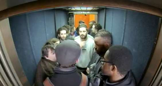 Shia LaBeouf Hit Student During His 24 Hour Elevator Ride In UK LaBouef1