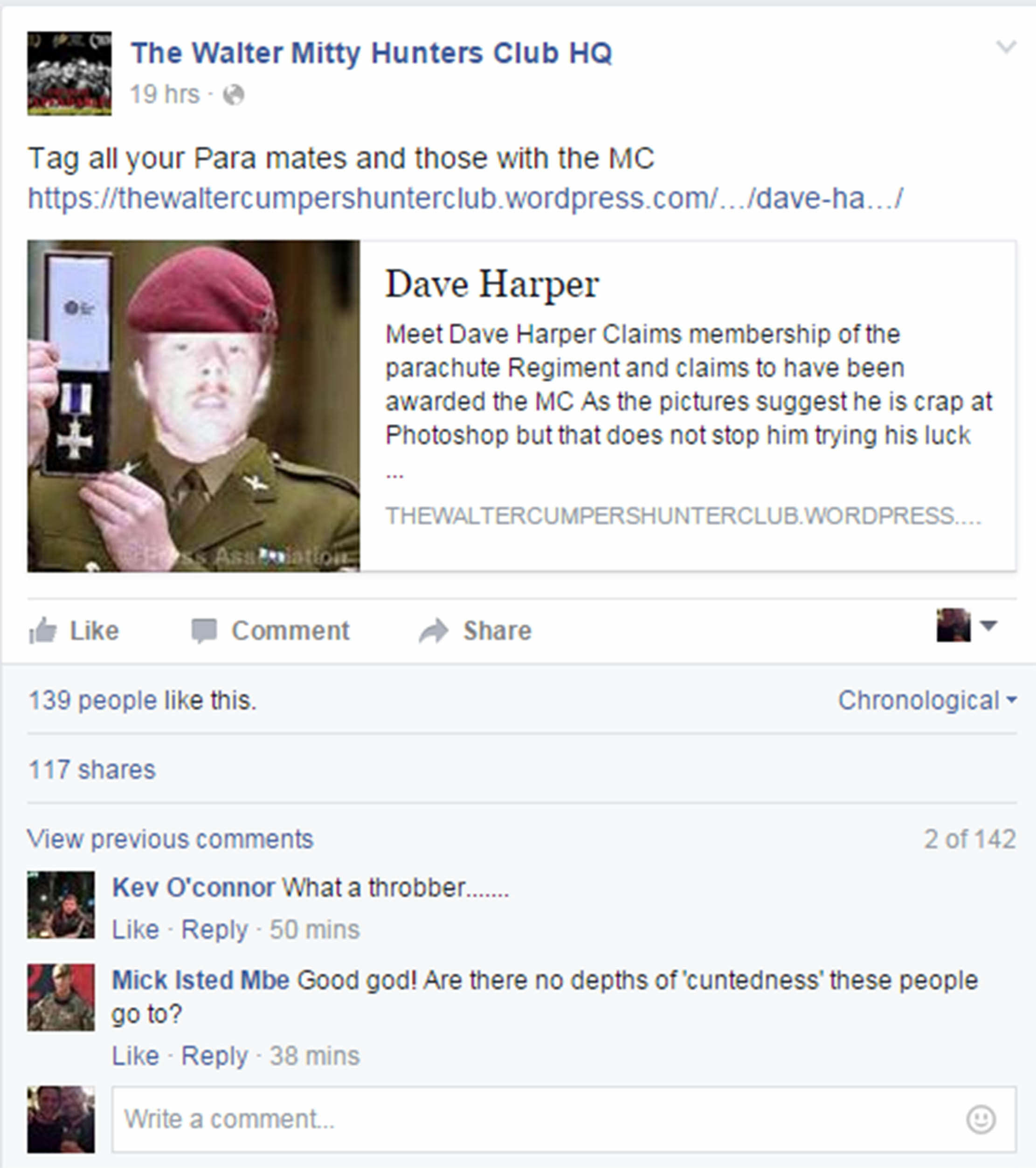 Guy Pretended He Was Soldier With This Terrible Photoshopped Photo SWNS FAKER 01 1