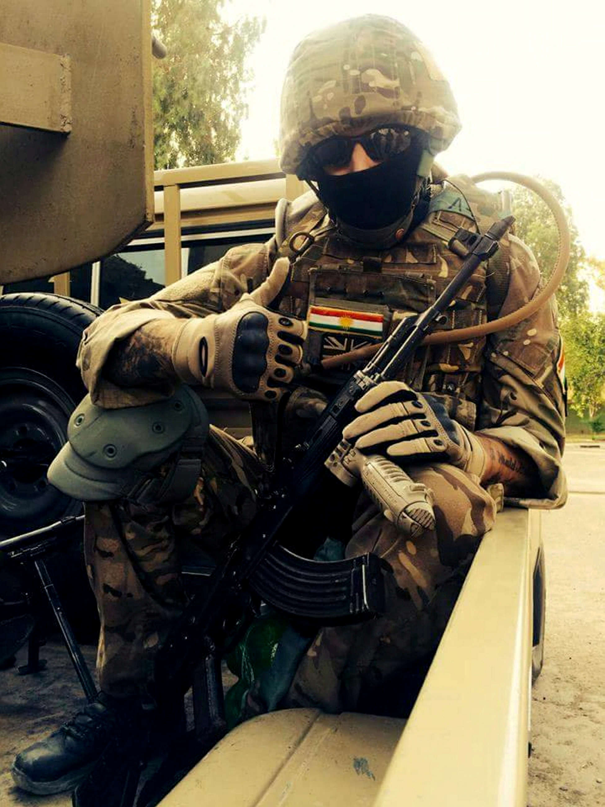 Story Of Ex Soldier Arrested When He Returned To UK From Fighting ISIS SWNS ISIS SOLDIER 09