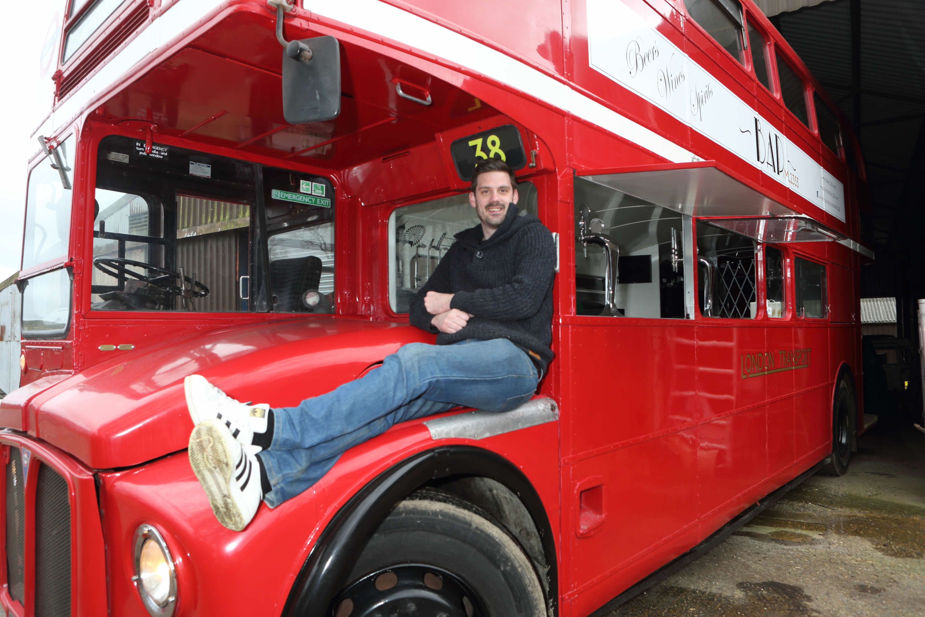 Guy Turns Bus Into Movable Pub And It Looks Incredible SWNS PARTY BUS 08