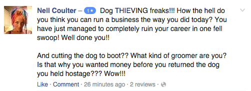 Explosive Row Between Dog Groomer And Owner Goes Viral Screen Shot 2016 02 13 at 16.25.05