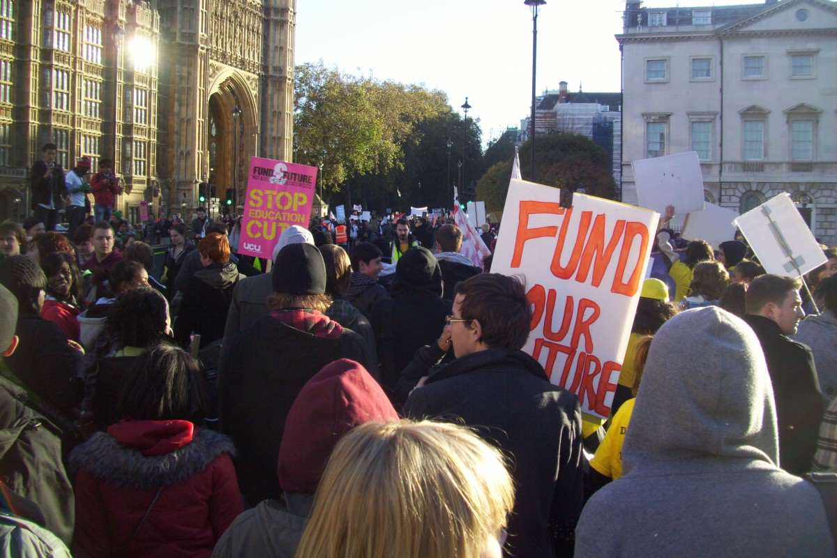 The Government Are About To F*ck Students Over Again Student protest march past Houses of Parliament 1200x800