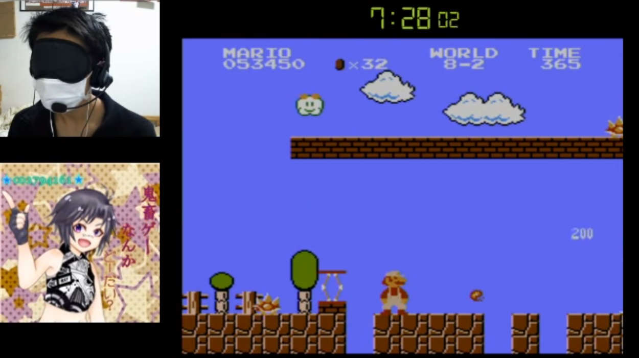 Blindfolded Speed Runner Beats Super Mario Bros In Under 15 Minutes Super Mario Bros blindfold