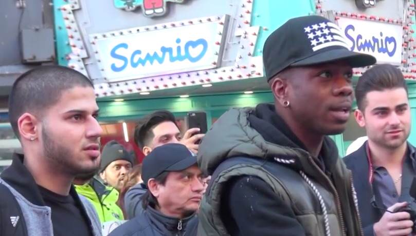 People React To Pensioner Showing Off His Child Bride In Times Square bride3