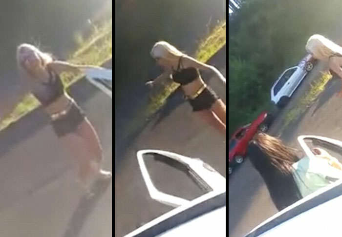 Moment Pole Dancer Causes Three Car Pile Up After Showing Off Her Moves dancer web thumb 1