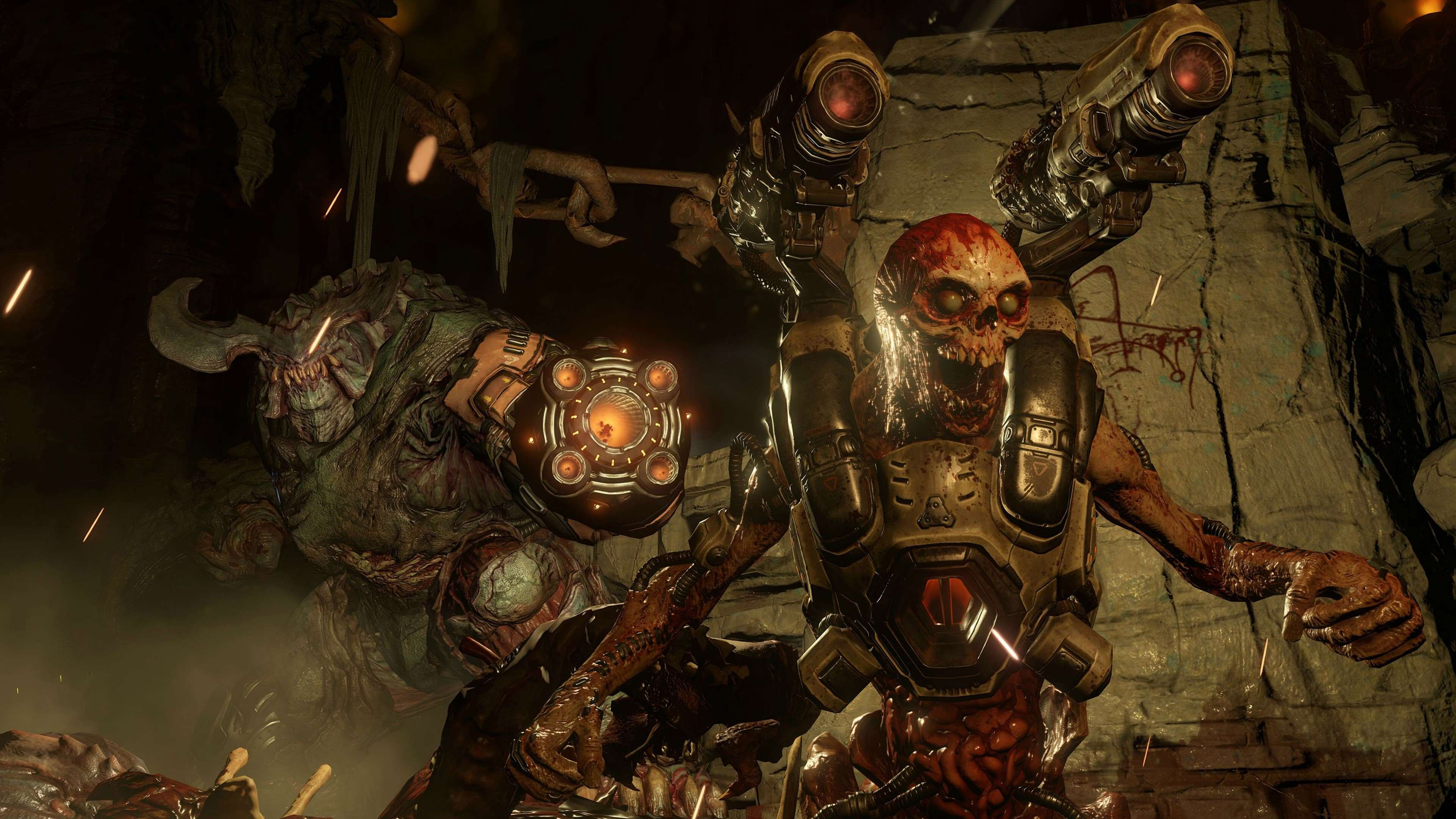 The New DOOM Campaign Trailer Just Dropped And Its Brutal As Hell doom game 2016 4k demon picture 3840x2160