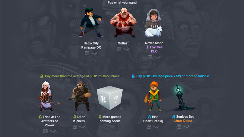 Get Great Indie Games In New Pay What You Want Humble Bundle humble indie bundle 16