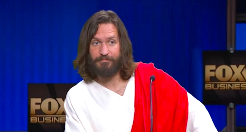 Jesus Reads Out Quotes From Republican Presidential Candidates On Jimmy Kimmel Show kimmel jesus 1