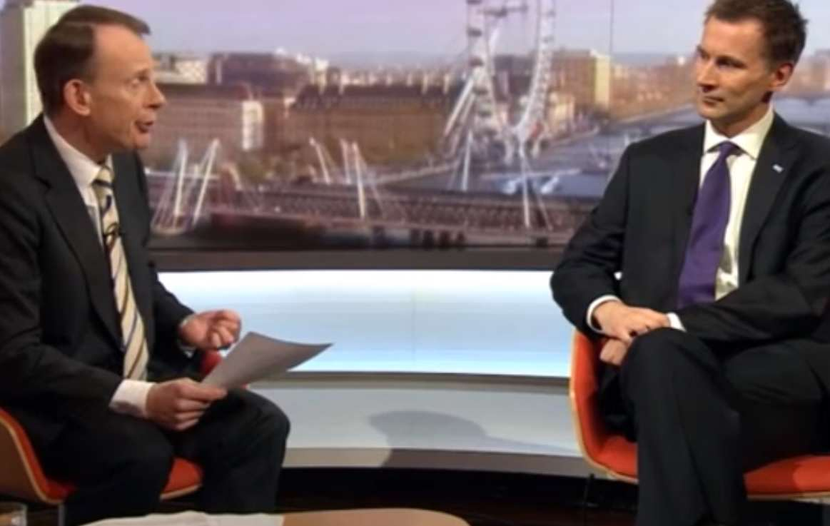 Jeremy Hunt Squirms On Live TV Under Pressure From Junior Doctors marr