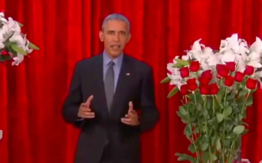 Barack Obama Delivers Funny Valentines Message To His Wife Michelle obama