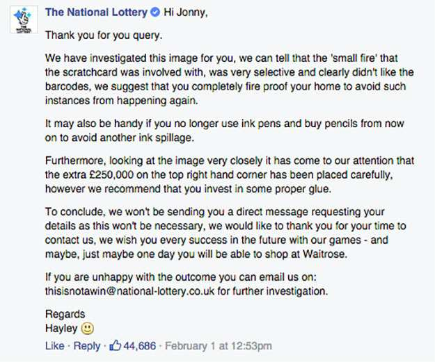 Man Claims Fake £250,000 Scratchcard, National Lottery Respond scratchcard lol 3