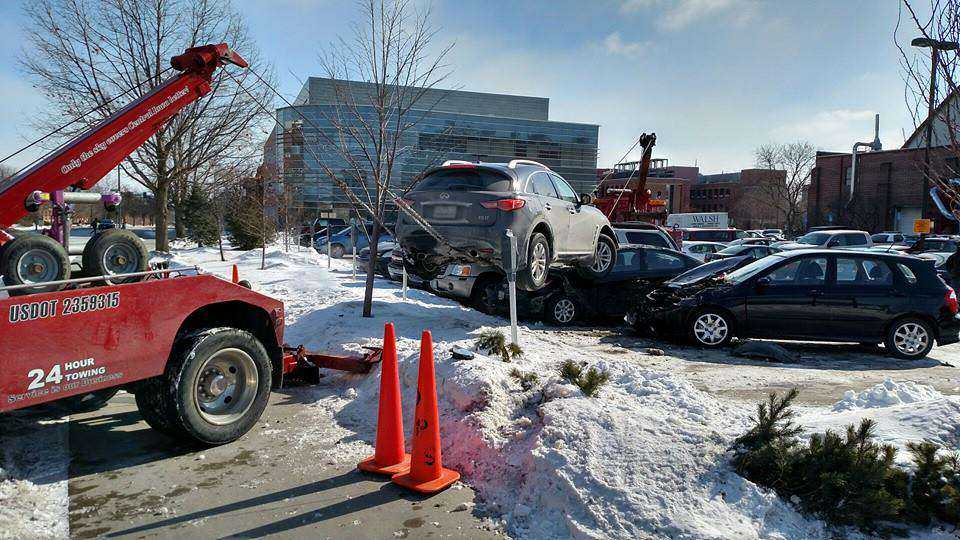 Peoples Reaction To This SUV Crashed On Top Of Cars Proves Humanity Is F*cked suv2
