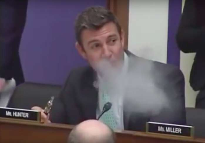 Watch Politician Protest E Cig Ban On Planes By Vaping During Congress Debate vaping2