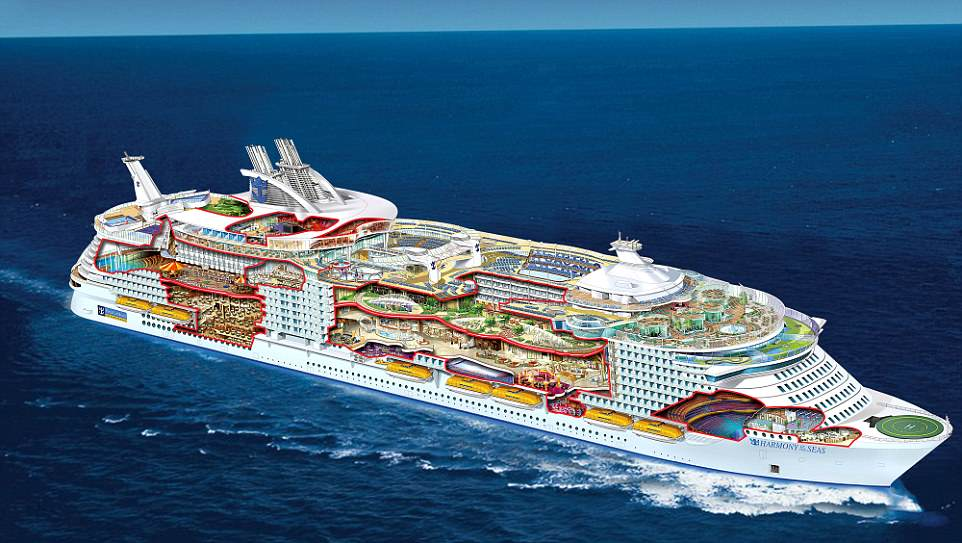 This Cruise Ship Is So Big You Need GPS To Find Your Room - Harmony cruise