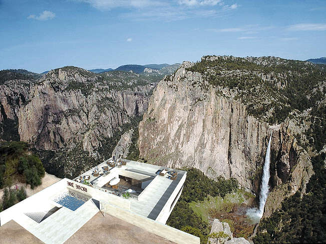 Would You Dare Eat At This Restaurant Hanging Over A Canyon? 9000b9 01d78d8ac1da48369b5e32d70e3f7818