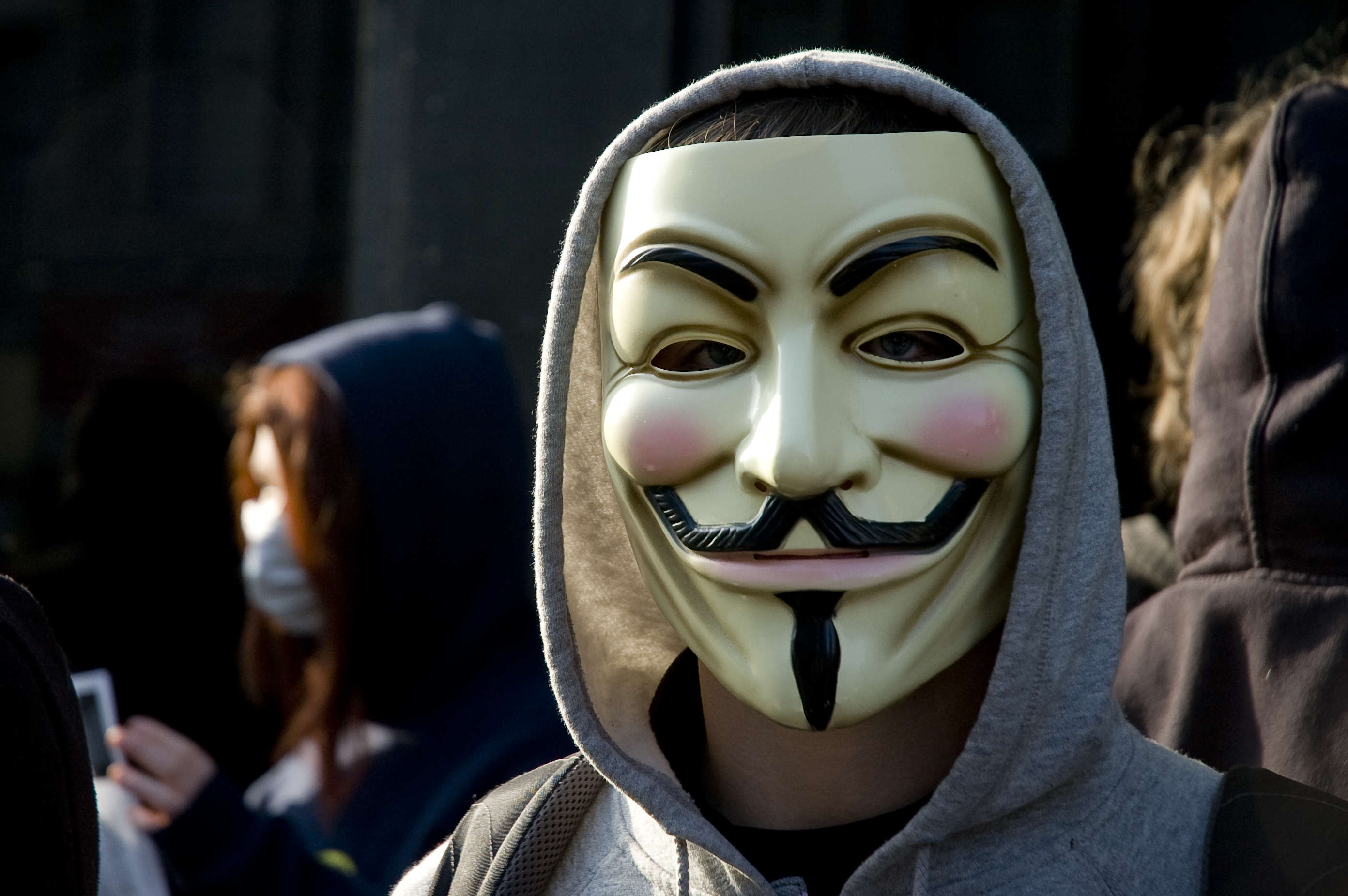Anonymous Strike First Blow In War Against Donald Trump Anti scientology protest