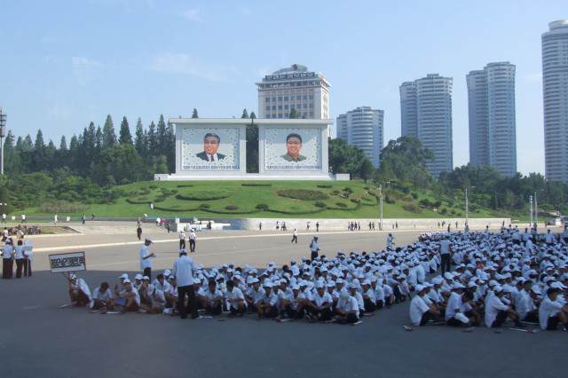 North Korean Teens Rip Into Kim Jong Un Online Using Yik Yak Children in Pyongyang 640x426