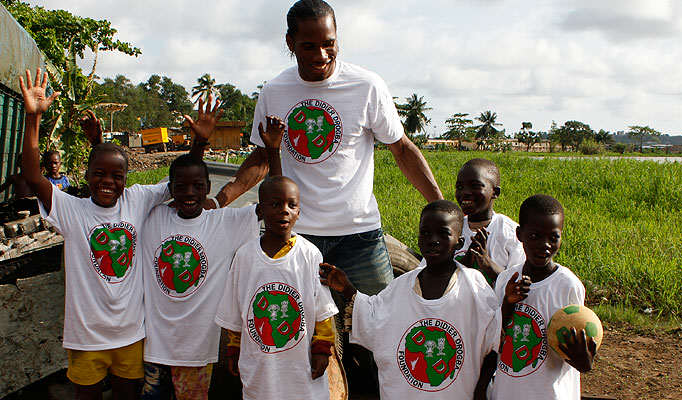 Five Gestures That Prove Some Footballers Have A Heart Of Gold Drogba charity sun