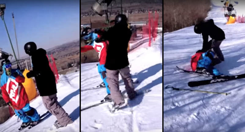 This Bizarre Rich Kid Fight On A Ski Slope Is Just Confusing FaceThumb Recovered 7