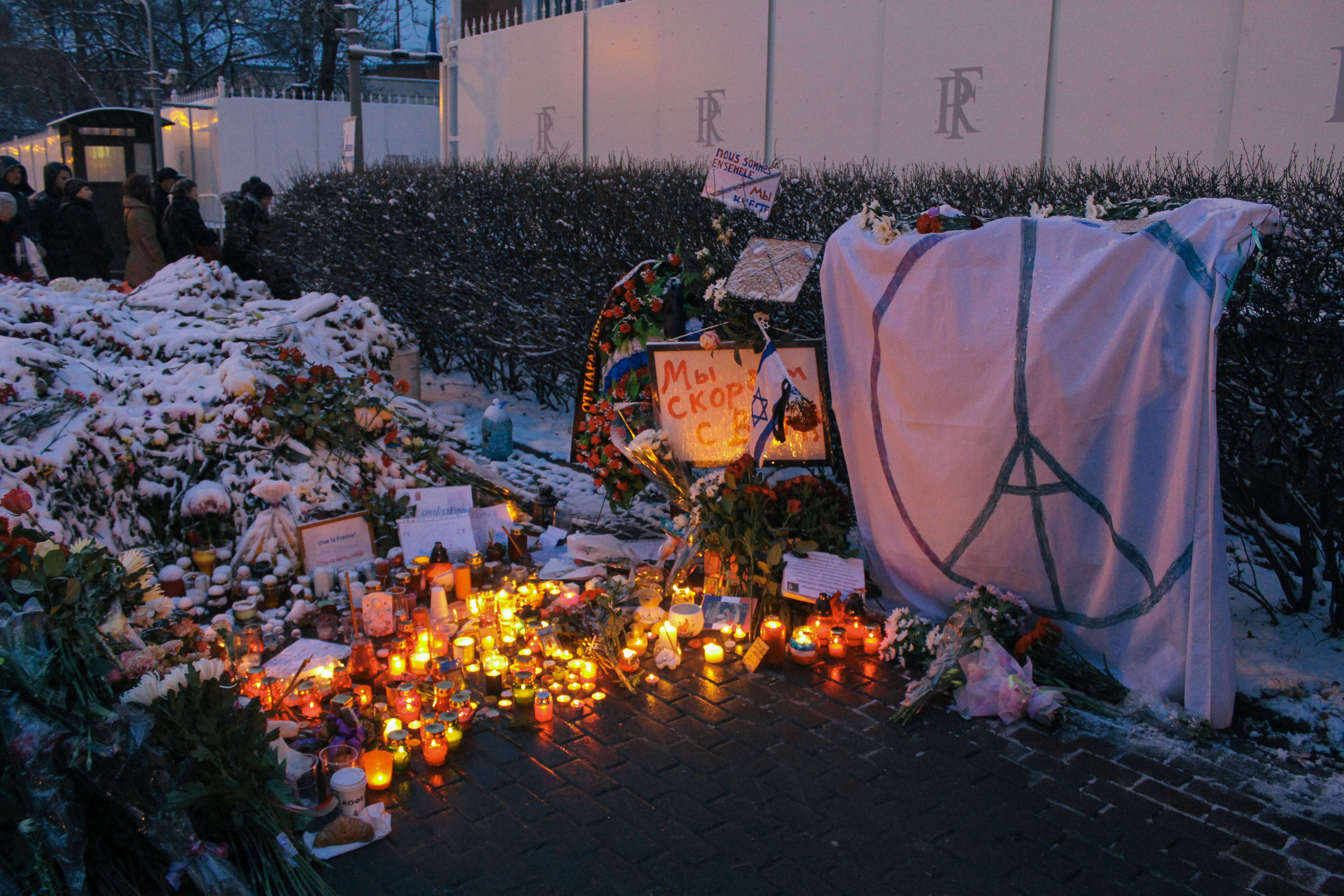 New Details Reveal Paris Attackers Planned To Act Again Memorial to November 2015 Paris attacks at French embassy in Moscow 12