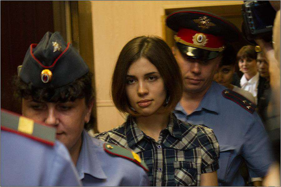 Man Facing Jail For Calling Out God On Social Media Nadezhda Tolokonnikova Pussy Riot at the Moscow Tagansky District Court   Denis Bochkarev