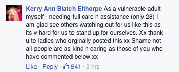 This Photo Of A Support Worker Has Gone Viral For Obvious Reasons Screen Shot 2016 03 10 at 15.52.59