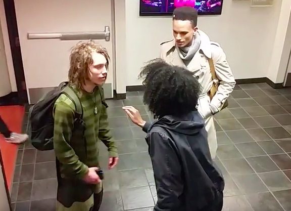 Video Of Black Student Harassing White Guy With Dreadlocks Goes Viral Screen Shot 2016 03 30 at 13.48.12