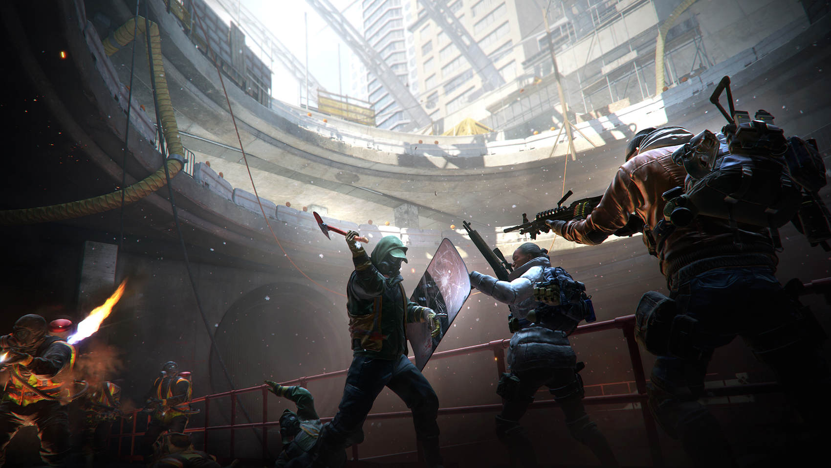 The Division Is Already Breaking Records For Ubisoft The Division fighting the Cleaners