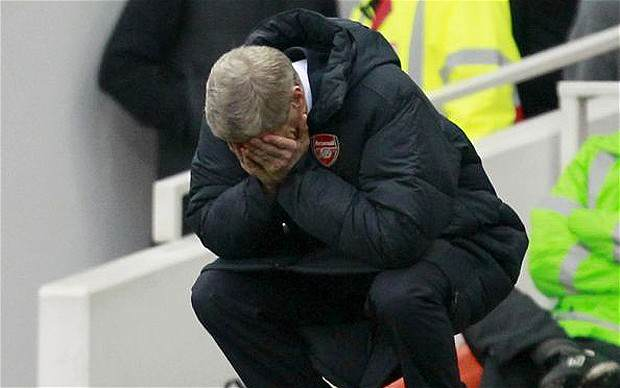 Wenger knees sad telegraph