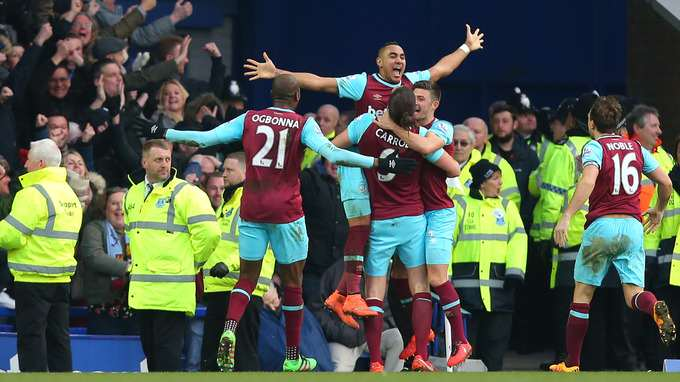 West Ham celebration ITV