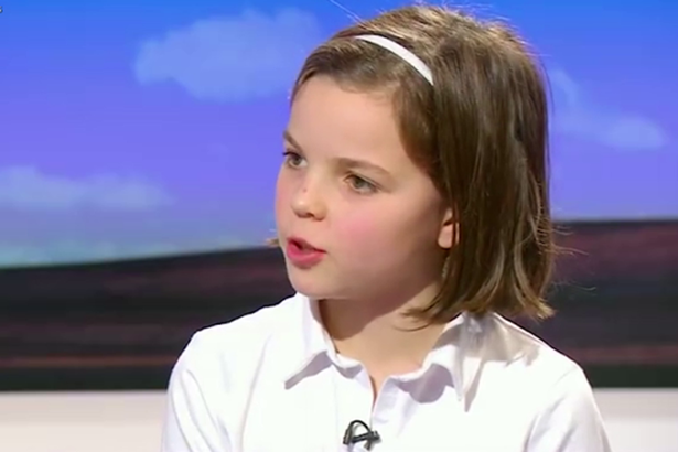Badass 10 Year Old Girl Shuts Down BBC Daily Politics Presenter andrew charlotte 1