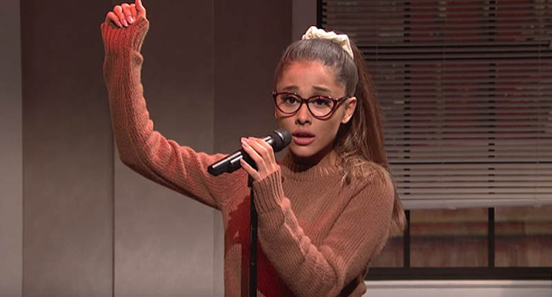 Ariana Grandes Celebrity Singing Impressions Are Spot On ariana snl FB