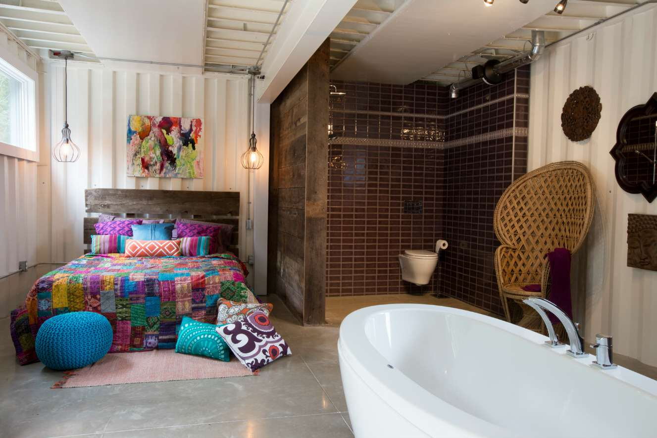 This Woman Built An Insanely Cool Home From A Shipping Container bedbath