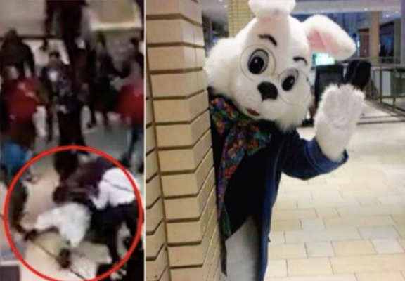 Video Shows Brutal Brawl Between Easter Bunny And Shoppers