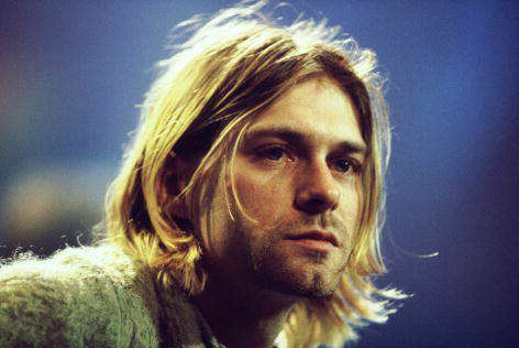 27 Club member, Kurt Cobain, on stage at MTV Unplugged