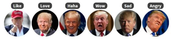 You Can Change Your Facebook Reaction Emojis To Trumps Face emojis2