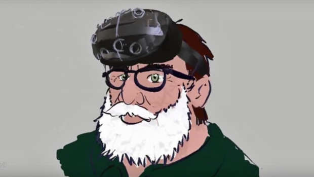 Incredible 3D Sketch Of Gabe Newell Made In VR leth 620x349