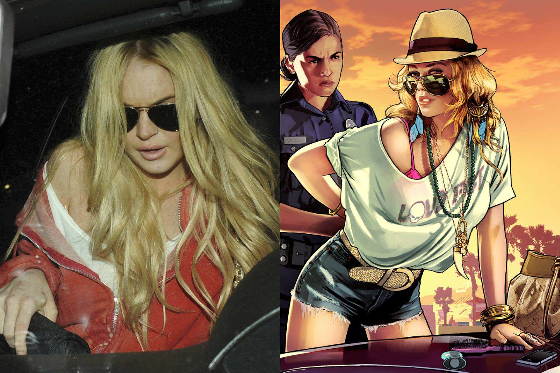 Gta 5 Cartoon Characters : Bizarre lindsay lohan gta v lawsuit moves forward