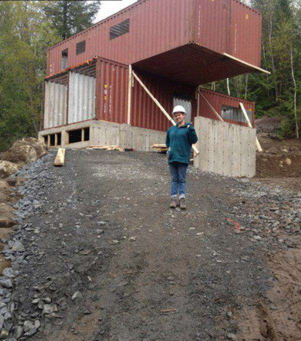 This Woman Built An Insanely Cool Home From A Shipping Container outside