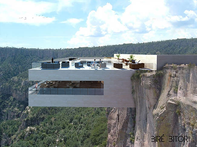 Would You Dare Eat At This Restaurant Hanging Over A Canyon? restaurant 0