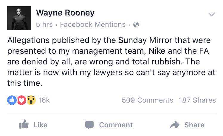 rooney statement