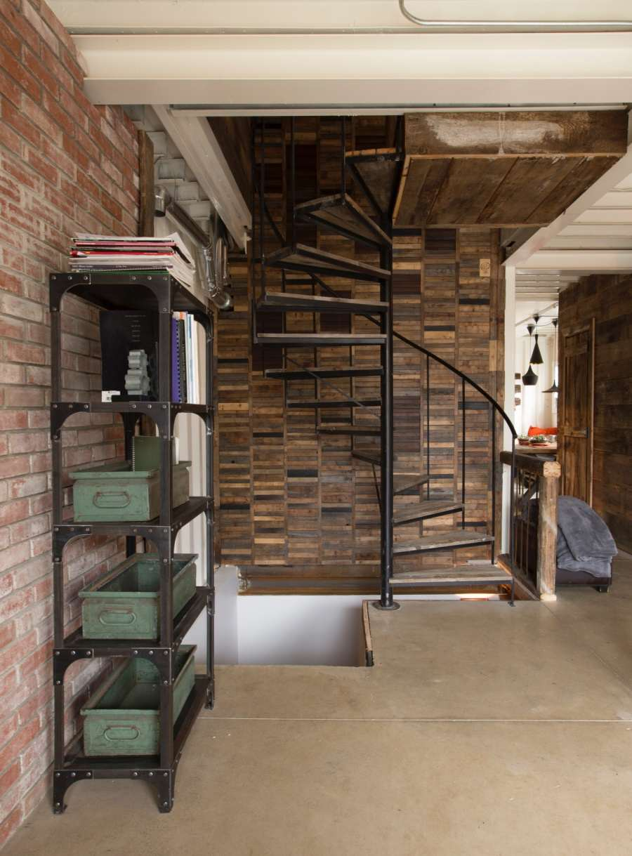This Woman Built An Insanely Cool Home From A Shipping Container stairs