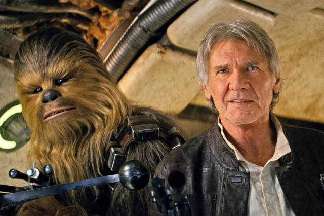 J.J. Abrams Explains Similarities Between Force Awakens and A New Hope star wars force awakens han solo chewbacca 640x426