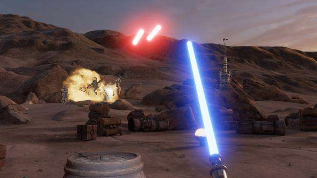 Theres A Star Wars VR Game Coming, And It Looks Incredible star wars trials of tatooine virtual reality htc vive vr lightsaber 1021x580