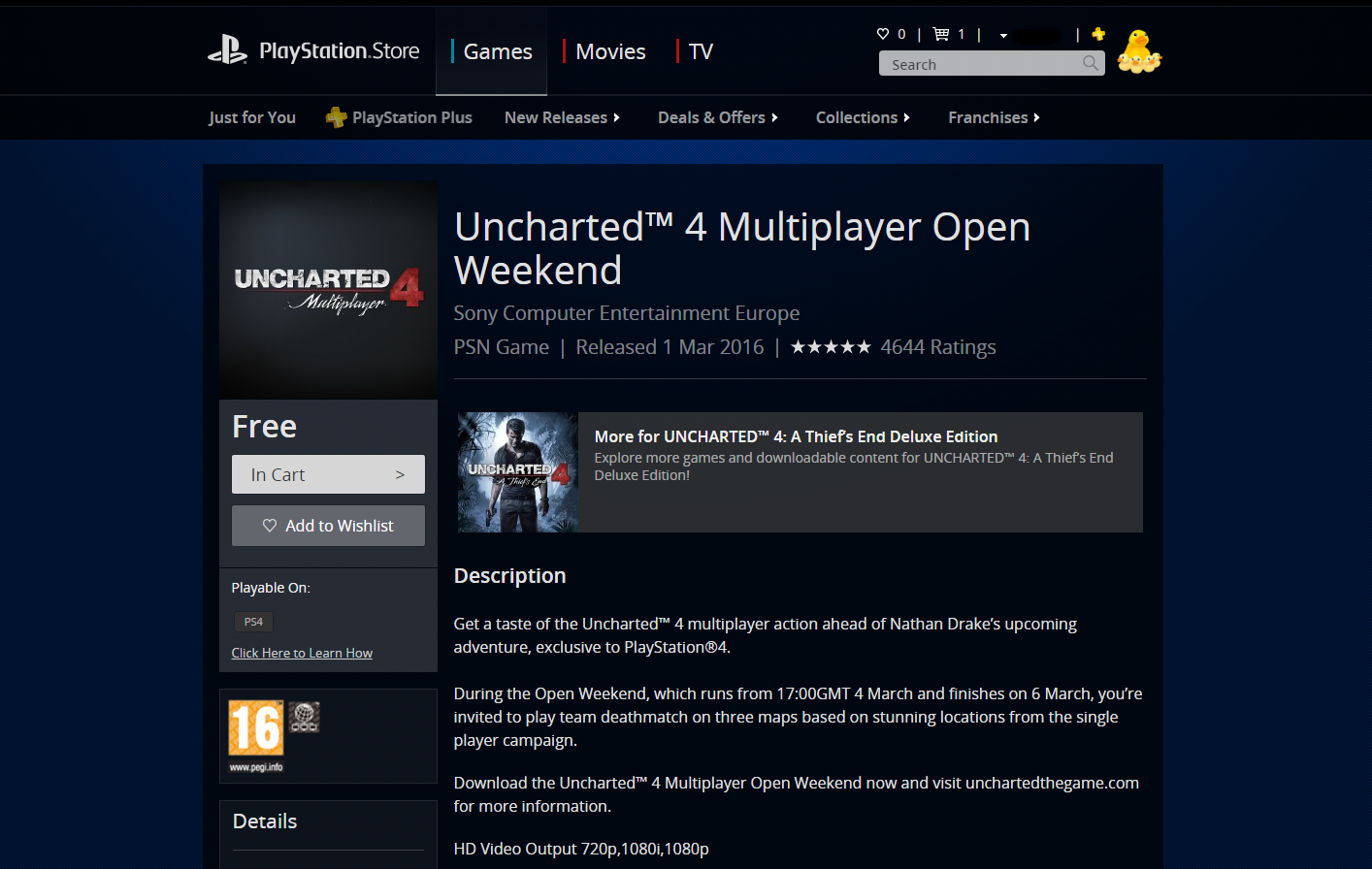 Uncharted 4 May Be Getting UK Exclusive Multiplayer Beta uncharted 4 gets open beta this weekend 145676274461