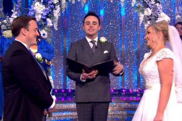 Not Everything Was As It Seemed With The Wedding On Ant And Decs Saturday Night Takeaway wedding 4 640x426