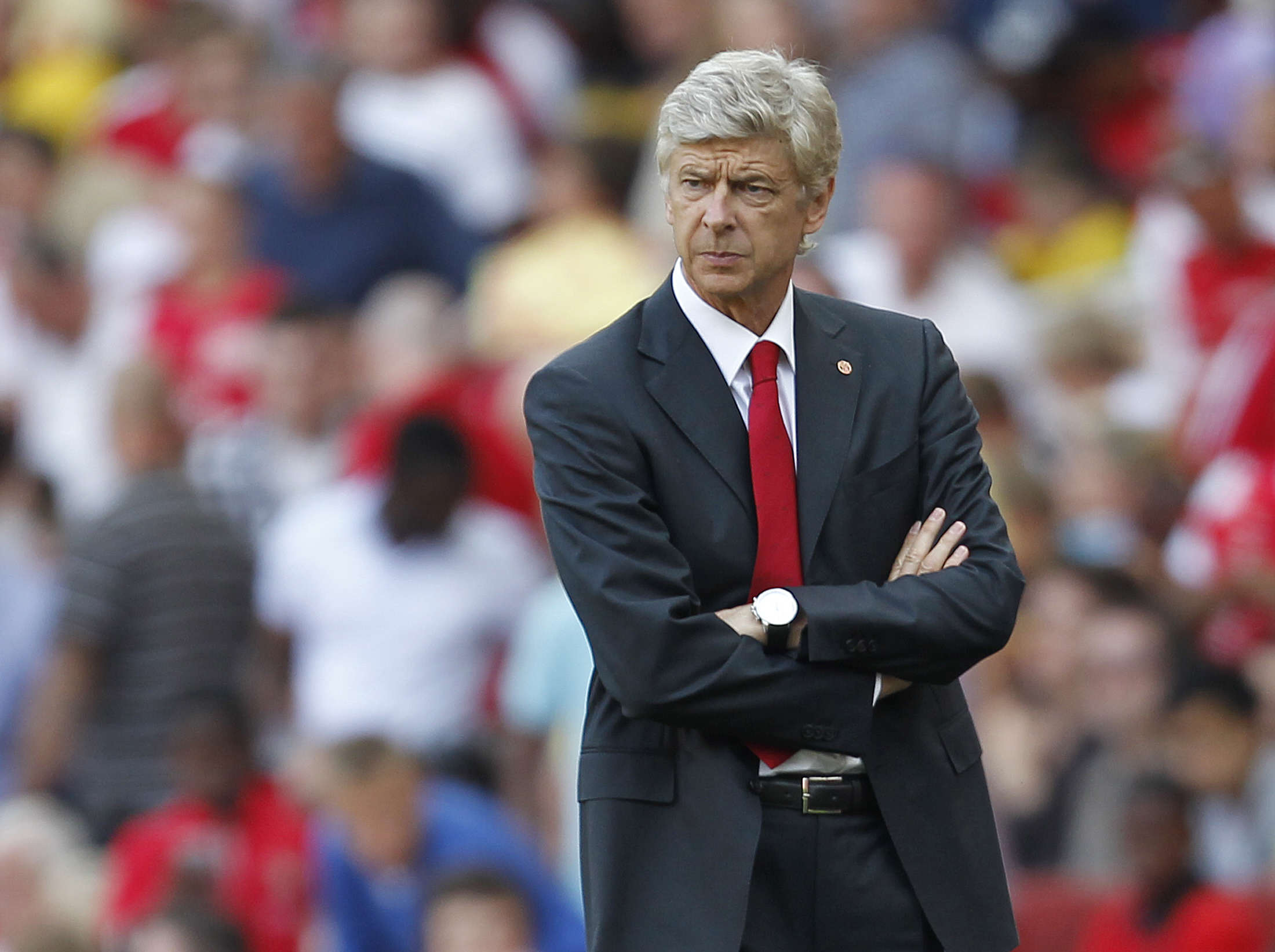 Arsenal's Manager Arsene Wenger gestures